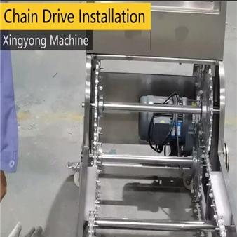 Chain installation of Z-type bucket elevator