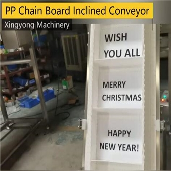 PP chain board inclined conveyor