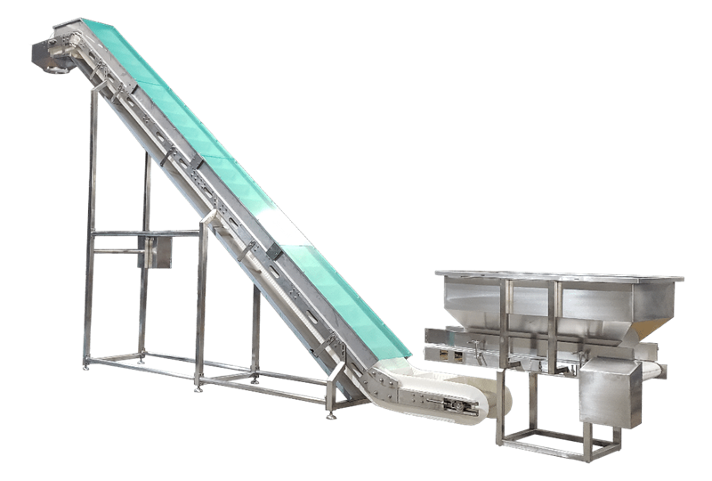 PP Chain Plate Inclined Conveyor
